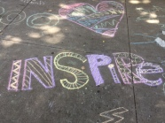 Chalk the Walk to welcome our new school year!