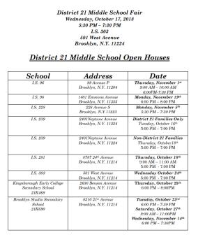 d21 open houses