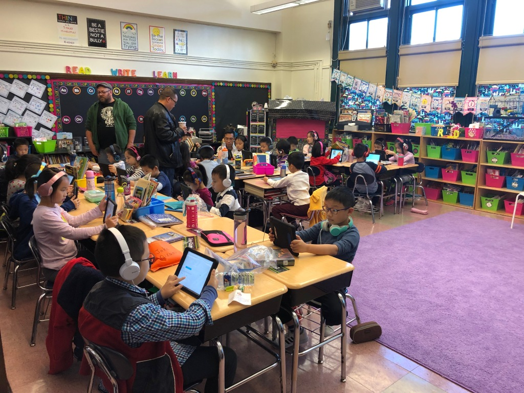 Families working on iReady together